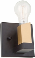 Artcraft AC11101 Skyline Contemporary Dark Bronze & Satin Brass Sconce Lighting