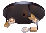 Artcraft AC11103 Skyline Modern Dark Bronze & Satin Brass Flush Lighting
