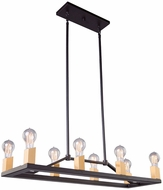 Artcraft AC11109 Skyline Modern Dark Bronze & Satin Brass Kitchen Island Lighting