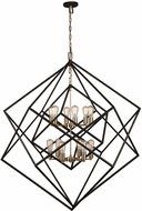 Artcraft AC11112 Artistry Contemporary Matte Black & Satin Brass Chandelier Lamp