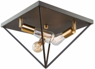 Artcraft AC11113 Artistry Contemporary Matte Black & Satin Brass Flush Mount Lighting