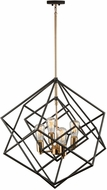 Artcraft AC11114 Artistry Modern Matte Black & Satin Brass Chandelier Light