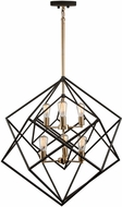 Artcraft AC11116 Artistry Contemporary Matte Black & Satin Brass Ceiling Chandelier