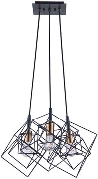 Artcraft AC11118 Artistry Contemporary Matte Black & Harvest Brass Multi Hanging Light