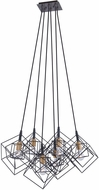 Artcraft AC11119 Artistry Contemporary Matte Black & Harvest Brass Multi Pendant Lighting Fixture