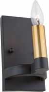 Artcraft AC11127 Regent Contemporary Black & Satin Brass Light Sconce