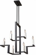 Artcraft AC11136 Urban Chic Modern Matte Black & Satin Nickel Ceiling Chandelier