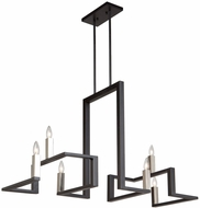 Artcraft AC11137 Urban Chic Contemporary Matte Black & Satin Nickel Hanging Chandelier