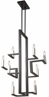 Artcraft AC11138 Urban Chic Modern Matte Black & Satin Nickel Mini Chandelier Light