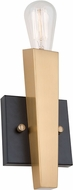 Artcraft AC11150 Olympia Contemporary Black & Satin Brass Lamp Sconce
