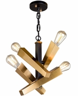 Artcraft AC11154 Olympia Modern Black & Satin Brass Mini Chandelier Lighting