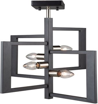 Artcraft AC11173NB Sutherland Modern Black and Brushed Nickel Ceiling Light Fixture