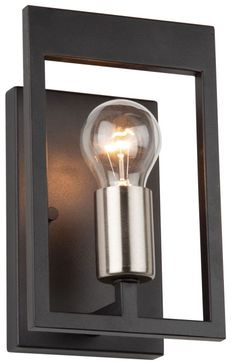 Artcraft AC11177NB Sutherland Contemporary Black and Brushed Nickel Wall Lighting