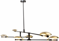 Artcraft AC11186 Aventura Contemporary Matt Black LED Chandelier Lamp