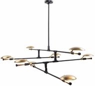 Artcraft AC11188 Aventura Modern Matt Black LED Chandelier Light