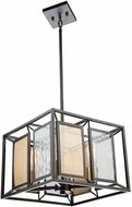 Artcraft AC11194 Chadwick Contemporary Dark Bronze & Satin Brass Hanging Light