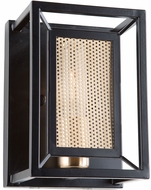 Artcraft AC11197 Chadwick Modern Dark Bronze & Satin Brass Wall Sconce Lighting