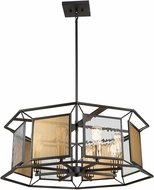 Artcraft AC11198 Chadwick Contemporary Dark Bronze & Satin Brass Pendant Lighting Fixture