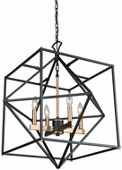Artcraft AC11204 Roxton Contemporary Matte Black & Harvest Brass 25  Hanging Light Fixture