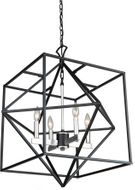 Artcraft AC11204PN Roxton Modern Matte Black and Polished Nickel 25  Lighting Chandelier