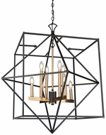 Artcraft AC11208 Roxton Modern Matte Black & Harvest Brass 32  Drop Lighting