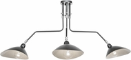 Artcraft AC11213 Nero Modern Black/White Interior Island Lighting