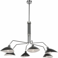 Artcraft AC11216 Nero Modern Black/White Interior Hanging Chandelier