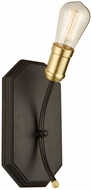 Artcraft AC11221SB Sandalwood Contemporary Satin Brass Wall Lamp