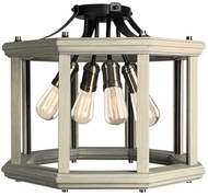 Artcraft AC11224BW Sandalwood Contemporary Beach Wood Ceiling Lighting