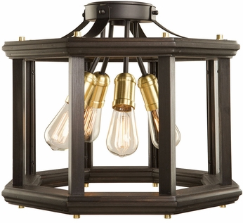 Artcraft AC11224SB Sandalwood Contemporary Satin Brass Ceiling Light Fixture