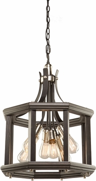 Artcraft AC11226BN Sandalwood Modern Brushed Nickel Pendant Light