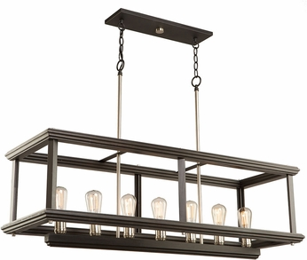 Artcraft AC11227BN Sandalwood Modern Brushed Nickel Island Lighting