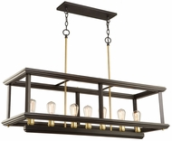 Artcraft AC11227SB Sandalwood Contemporary Satin Brass Kitchen Island Lighting