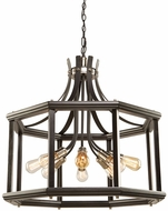Artcraft AC11228BN Sandalwood Modern Brushed Nickel Pendant Lamp