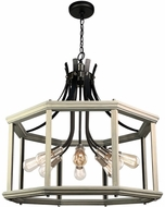Artcraft AC11228BW Sandalwood Contemporary Beach Wood Drop Ceiling Lighting