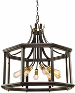 Artcraft AC11228SB Sandalwood Contemporary Satin Brass Hanging Lamp