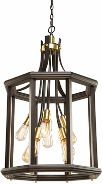 Artcraft AC11229SB Sandalwood Contemporary Satin Brass Entryway Light Fixture