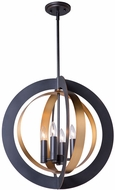 Artcraft AC11234 Capri Modern Dark Bronze & Satin Brass 21  Hanging Pendant Light
