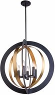Artcraft AC11236 Capri Contemporary Dark Bronze & Satin Brass 25.5  Pendant Hanging Light