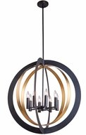 Artcraft AC11238 Capri Modern Dark Bronze & Satin Brass 30  Hanging Light Fixture
