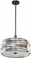 Artcraft AC11264 Vero Modern Black 16  Drum Drop Ceiling Lighting