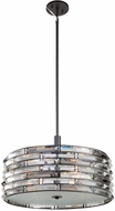 Artcraft AC11265 Vero Contemporary Black 20  Drum Ceiling Light Pendant