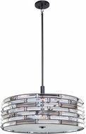 Artcraft AC11267 Vero Contemporary Black 24  Drum Ceiling Pendant Light