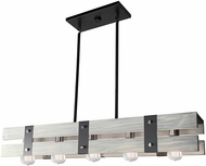 Artcraft AC11275BW Barnyard Modern Beach Wood 36  Kitchen Island Lighting