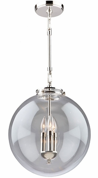 Artcraft AC11286PN Alexandria Contemporary Polished Nickel Drop Lighting Fixture