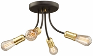 Artcraft AC11294SB Barclay Street Contemporary Satin Brass Ceiling Light Fixture