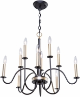 Artcraft AC11328VB Braemar Contemporary Vintage Brass Chandelier Light