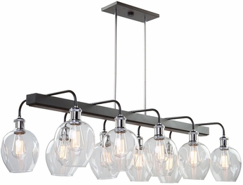 Artcraft AC11340PN Hennessy Modern Polished Nickel & Black Island Light Fixture