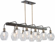 Artcraft AC11340VB Hennessy Contemporary Vintage Brass Kitchen Island Light Fixture