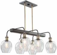 Artcraft AC11346VB Hennessy Contemporary Vintage Brass Kitchen Island Lighting